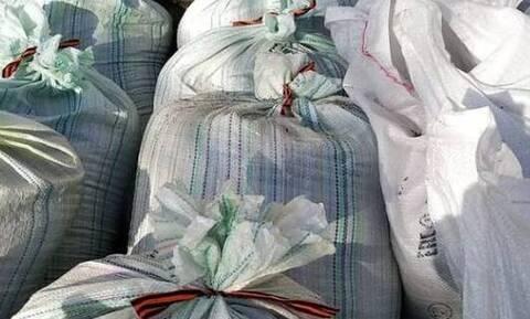 Помним? Гордимся? — на Алтае мешки с мусором перевязали георгиевской лентой