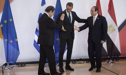 9η Τριμερής Σύνοδος Κορυφής Ελλάδος-Κύπρου-Αιγύπτου: Live οι δηλώσεις Μητσοτάκη, Αναστασιάδη, Σίσι