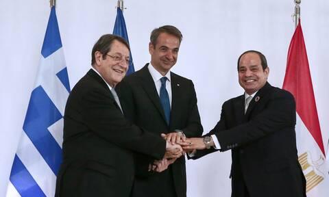 Το κείμενο Διακήρυξης Ελλάδας-Αιγύπτου-Κύπρου-Αυστηρά μηνύματα σε Τουρκία