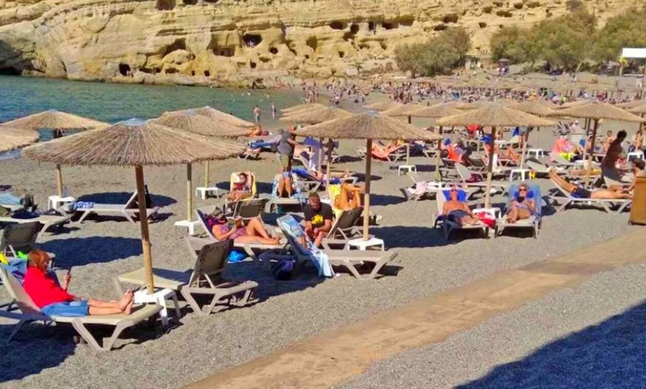 Απίστευτες εικόνες στην Κρήτη - Δεν «ξεκουνάει» το καλοκαίρι!