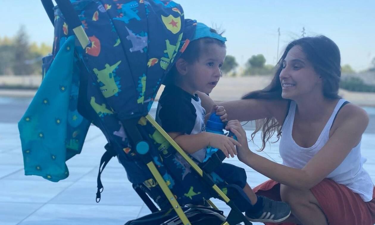Φωτεινή Αθερίδου: Μαμά και γιος σε φοβερά κέφια