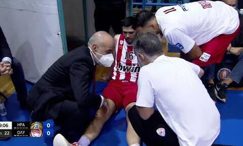 Basket League: Ξαφνικό πρόβλημα στον Ολυμπιακό – Αποχώρησε τραυματίας ο Παπανικολάου (vid)