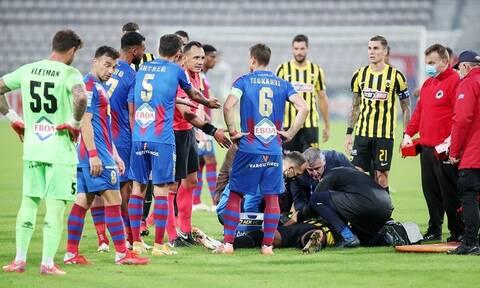 Super League: «Πάγωσαν» με τον Λιβάι Γκαρσία – Άσχημη πτώση του παίκτη της ΑΕΚ (video)