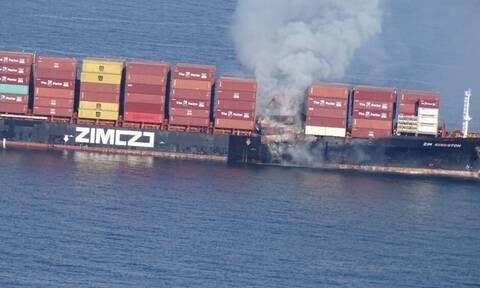 Καναδάς: Τοξικά αέρια από το φλεγόμενο πλοίο Zim Kingston - Μεταφέρει 52 τόνους χημικών προϊόντων