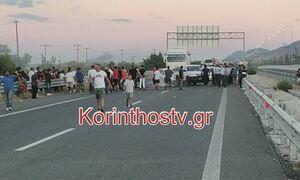 Ρομά έκλεισαν την εθνική οδό Κορίνθου – Πατρών στο Ζευγολατιό