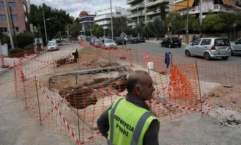 Χαλάνδρι: Στην κυκλοφορία το τμήμα της Παπανικολή που είχε υποστεί καθίζηση