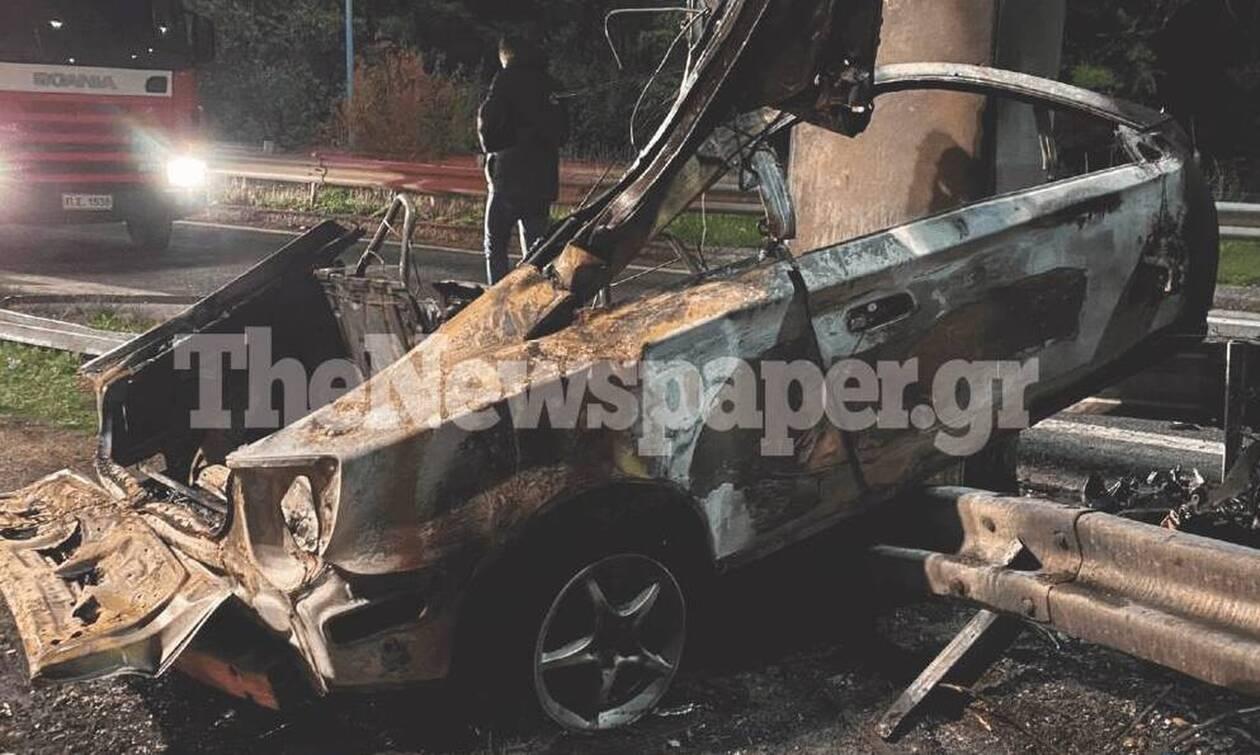 Τραγωδία στον Βόλο: Τροχαίο με νεκρό στην εθνική οδό - Απανθρακώθηκε μέσα στο ΙΧ του (pics-vid)