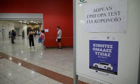 Κορονοϊός: Δωρεάν rapid test σήμερα Τετάρτη (27/10) σε 163 σημεία σε όλη τη χώρα