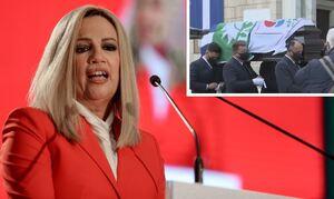 Φώφη Γεννηματά: Με τρεις σημαίες καλυμμένο το φέρετρο με τη σορό για το λαϊκό προσκύνημα