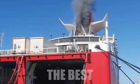 Λήξη συναγερμού στο λιμάνι της Πάτρας: Υπό έλεγχο η φωτιά που ξέσπασε σε πλοίο
